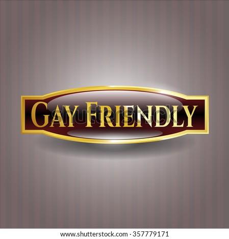 Gay Friendly golden emblem