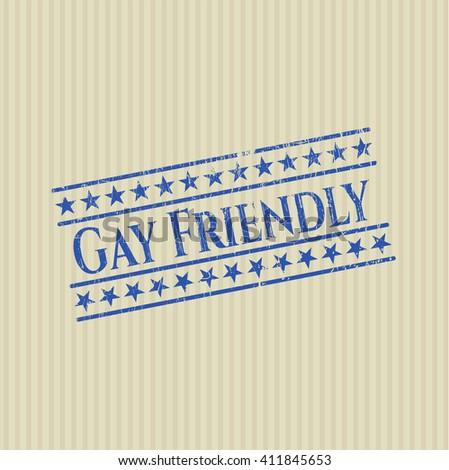 Gay Friendly grunge seal