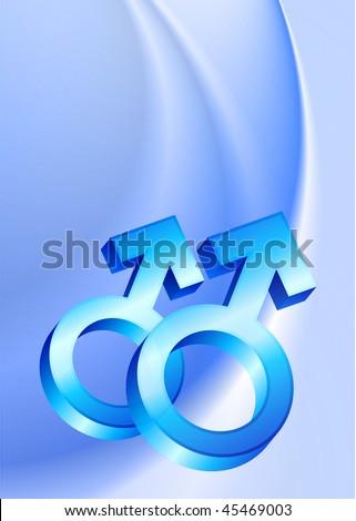 stock vector : Gay Male Gender Symbols on Blue Wave Background Original ...