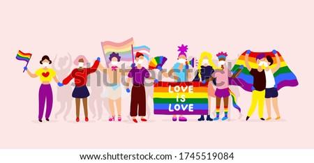 gay parade interracial group