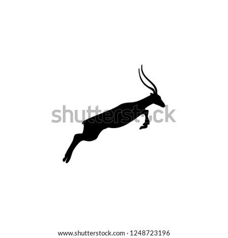 gazella vector icon gazella