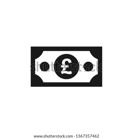 GBP British pound paper banknote icon