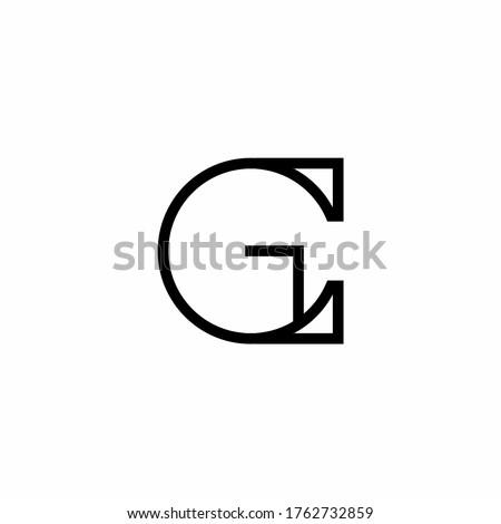 GC G C letter logo design vector Stock fotó ©