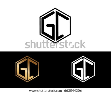 GC initial letters linked with hexagon shape logo