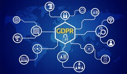 GDPR concept, General Data Protection Regulation. The protection of personal data.