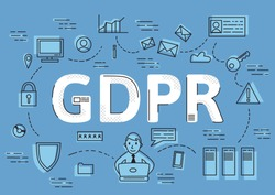 GDPR concept, vector illustration. General Data Protection Regulation. The protection of personal data.