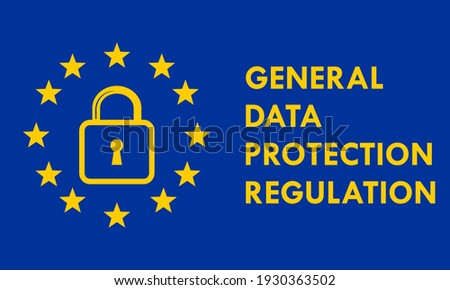 GDPR - General data protection regulation logo template illustration Stock fotó ©