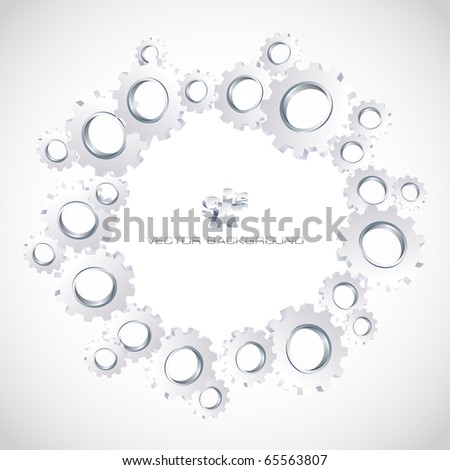 Gear background. Abstract illustration.