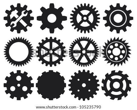 gear collection machine gear wheel cogwheel vector set of gear wheels collection of vector gear