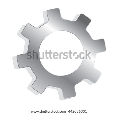 gear engineering symbol vector