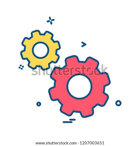 Gear icon design vector