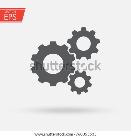 Gear icon. Engineering mechanism. Symbol of mechanization. Machinery industrial technology sign. Progress concept illustration.
