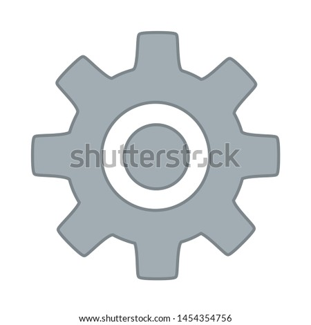 Gear icon. flat illustration of Gear. vector icon. Gear sign symbol