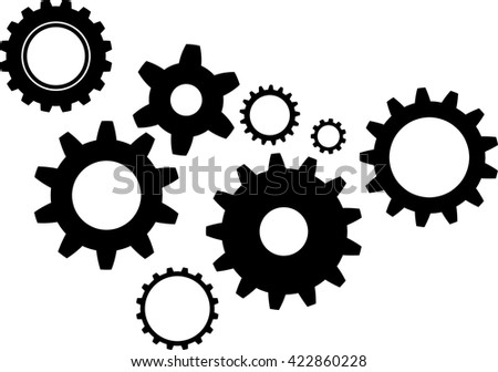 gear icon  gear pictograph