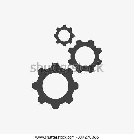 Gear Icon in trendy flat style isolated on grey background. Engineering symbol for your web site design, logo, app, UI. Vector illustration, EPS10.