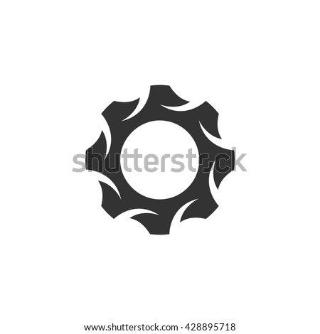gear icon isolated on a white
