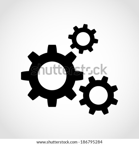 gear icon isolated on white