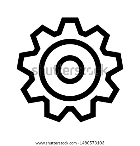 Gear icon on white background. flat illustration of Gear. vector icon. Gear sign symbol