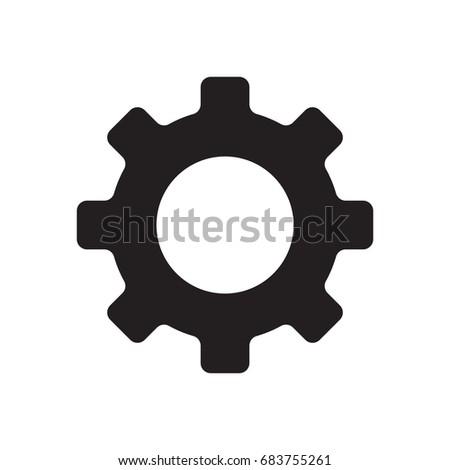 gear icon, service icon isolated vector