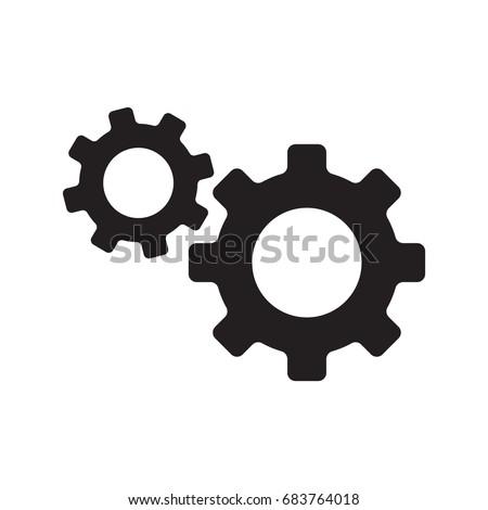 gear icon, service icon, maintenance icon vector