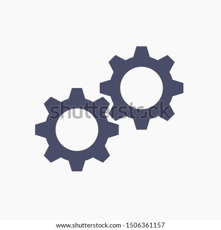 Gear icon. Settings icon. Gear mechanism illustration EPS10