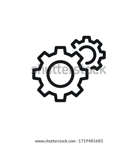 Gear icon, Settings Symbol- vector sign isolated on white background Foto d'archivio ©