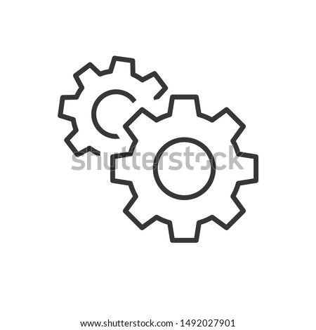Gear icon template color editable. Gear symbol vector sign isolated on white background.  Photo stock ©
