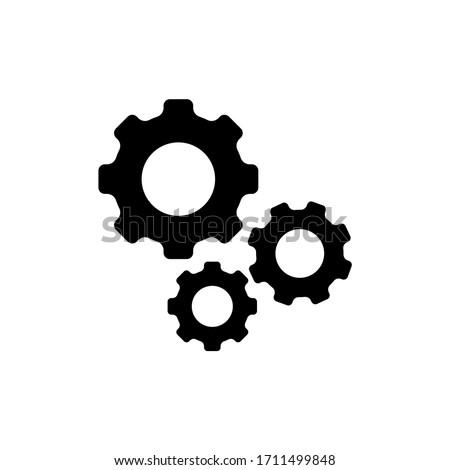 Gear icon vector. Cogwheel, settings icon symbol isolated Foto stock ©
