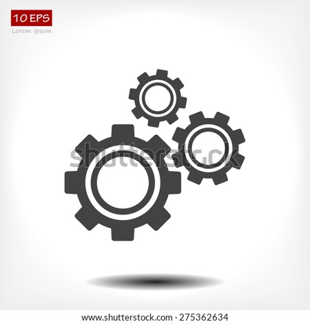 gear icon vector  eps 10