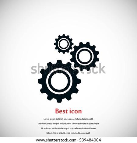 gear icon vector  flat design