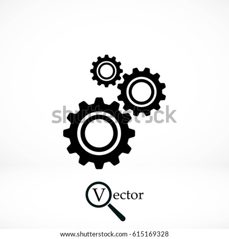 gear icon vector  flat design