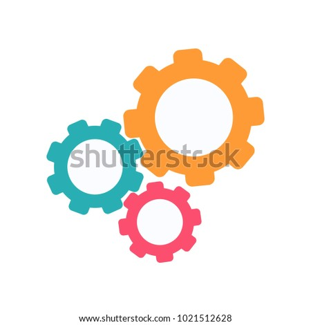 gear icon vector, flat design best vector icon logo design