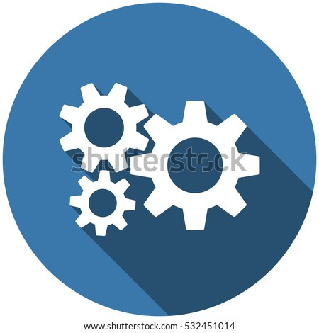 Gear Icon Vector flat design style