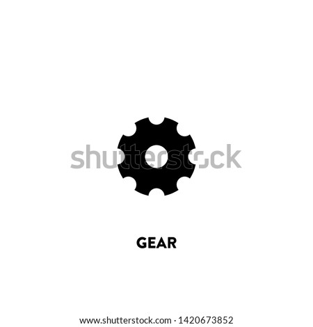 gear icon vector. gear sign on white background. gear icon for web and app