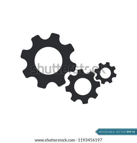 Gear Icon Vector Template