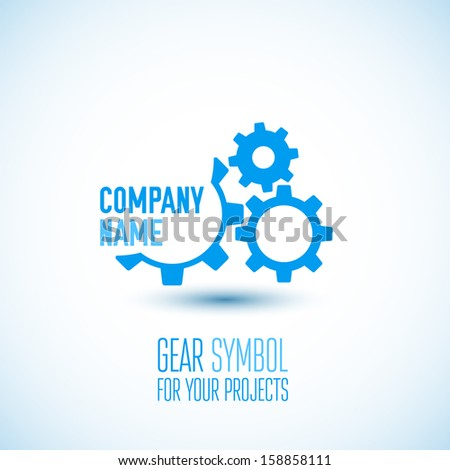 Gear icon with place for your text. Vector illustration