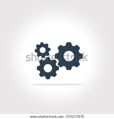 gear icon with vintage background vector art