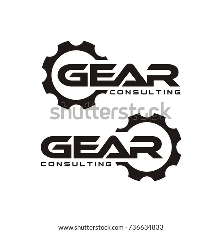 GEAR logo design template vector