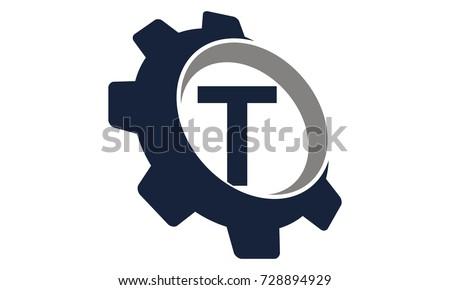 Gear Logo Letter T