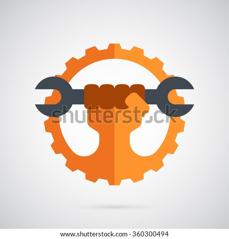 gear logo template the spanner
