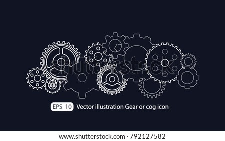 Gear or cog icon,Gears vector set. Eps 10 vector file.- Technology concept.