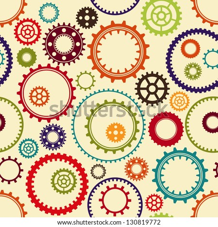 gear pattern background in