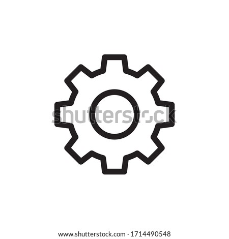Gear/settings icon on white background Photo stock ©