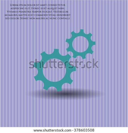 Gear (Team work) vector icon