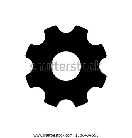 Gear Vector, Gear icon on white background