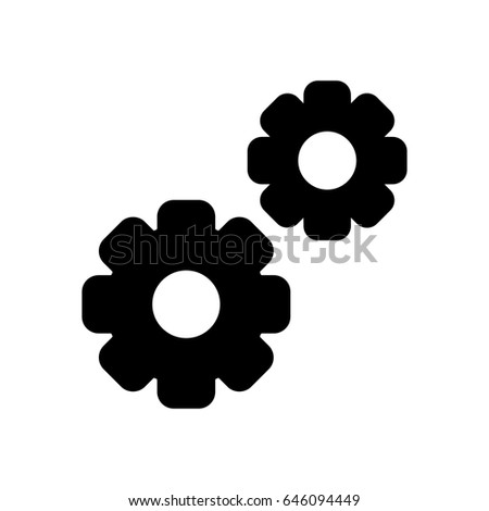 gear vector icon black and