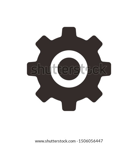 Gear vector icon isolated,cogs,Settings with flat style Foto stock ©