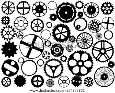Gear wheel silhouettes