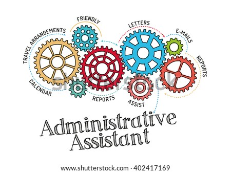 Captivating Gears And Administrative Assistant Mechanism  Administrative Assistant