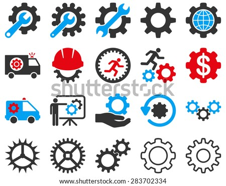 gears and service icon set